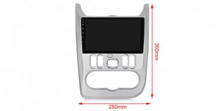 Navigatie NAVI-IT  1 GB RAM + 16 GB ROM Dacia Logan ( 2009 - 2016 ) , Android , Display 9 inch , Internet ,Aplicatii , Waze , Wi Fi , Usb , Bluetooth , Mirrorlink3