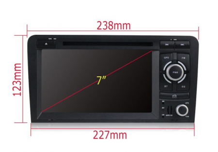 Navigatie auto dedicata Audi A3/S3 (2003-2013) 2 GB RAM, 32 ROM ,Android 10, 7 inch, 2/16GB DSP9