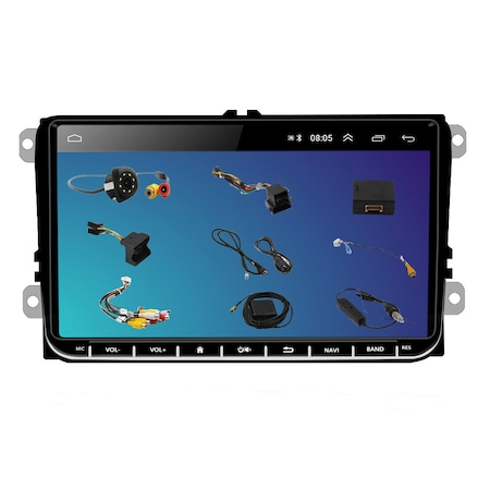 Navigatie NAVI-IT 1GB RAM 16 GB ROM, Ecran 9 inch 2.5D, 1280X720, IPS, Sistem de operare Android 9,Procesor T3, VW Passat CC,B7,B6,Golf 5 6,Touran,Skoda, Seat, camera marsarier Night-Vision 8 leduri,0