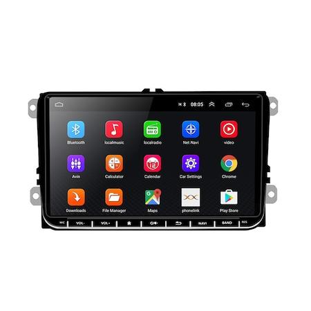 Navigatie NAVI-IT 1GB RAM 16 GB ROM, Ecran 9 inch 2.5D, 1280X720, IPS, Sistem de operare Android 9,Procesor T3, VW Passat CC,B7,B6,Golf 5 6,Touran,Skoda, Seat, camera marsarier Night-Vision 8 leduri,1