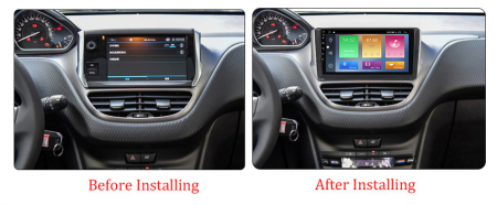 Navigatie Peugeot 208, NAVI-IT, 10.1 Inch, 1GB RAM 16GB ROM, Android 9.1, WiFi, Bluetooth, Magazin Play, Camera Marsarier [2]