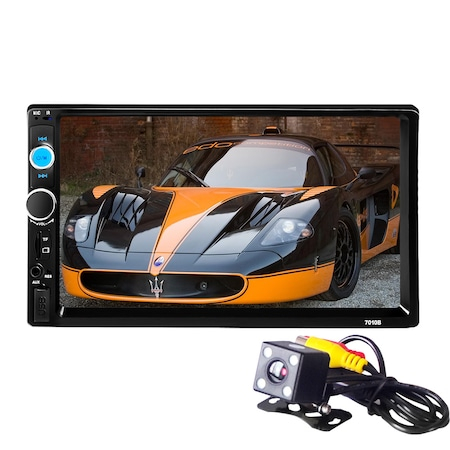 Mp3, Mp5 player auto 7010b 2 DIn, ecran 7 inch touchscreen mirrorlink cu camera marsarier si rama + Telecomanda NAVI-IT pentru comenzi volan mp5 player 7010B, 7012b, 7018b infrarosu [4]