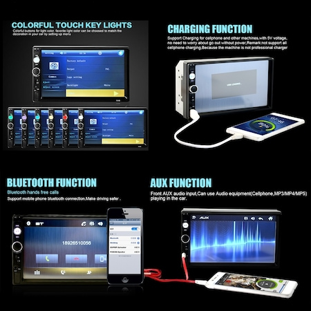 Navigatie MirrorLink mp5 player auto 7010B, Rama,Suporti prindere, Bluetooth, Divix , AVI , USB , SD Card , AUX1