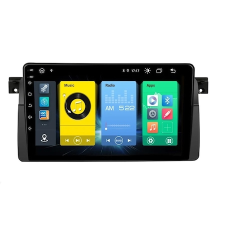 Navigatie NAVI-IT  1 GB RAM + 16 GB ROM , Android BMW SERIA 3 E46 ( 1999 - 2006 ) , Display 9 inch , Internet ,Aplicatii , Waze , Wi Fi , Usb , Bluetooth , Mirrorlink0