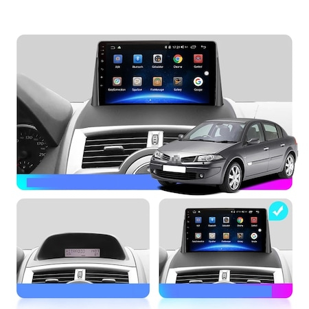 Navigatie Renault Megane 2 ( 2002 - 2009 ) , Android , Display 9 inch , 1GB RAM +16 GB ROM , Internet , Aplicatii , Waze , Wi Fi , Usb , Bluetooth , Mirrorlink [1]