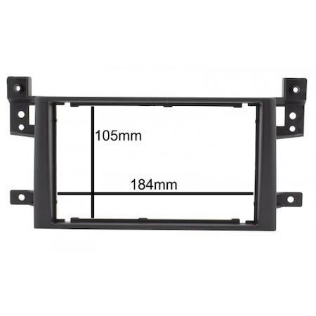 Rama adaptoare NAVI-IT, Suzuki Grand Vitara,negru, 2 DIN + suporti metalici1