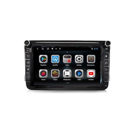Navigatie NAVI-IT Gps 8 inch VW Golf 5 6 Passat B6 B7 CC Tiguan Touran Jetta Eos Polo Sharan Amarok Caddy , Android , 1 GB RAM + 16 GB ROM , Internet , Aplicatii , Waze , Wi Fi , Usb , Bluetooth , Mir2