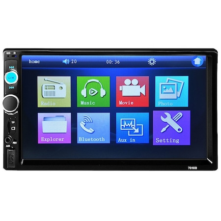 Mp3, Mp5 player auto 7010b 2 DIn, ecran 7 inch touchscreen mirrorlink cu camera marsarier si rama + Telecomanda NAVI-IT pentru comenzi volan mp5 player 7010B, 7012b, 7018b infrarosu [3]