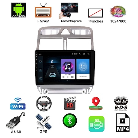 "Navigatie NAVI-IT Gps Peugeot 307 ( 2002 - 2013 ) , Android , 1 GB RAM + 16 GB ROM , Display 9 "" , Internet , Aplicatii , Waze , Wi Fi , Usb , Bluetooth , Mirrorlink1"