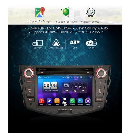 Navigatie NAVI-IT, 2GB RAM 16 GB ROM Toyota Rav 4 ,Wi-Fi , Android , Bluetooth, WiFi, Internet, Magazin Play1