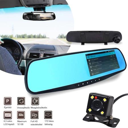 Camera video trafic si marsarier tip oglinda retrovizoare cu afisaj1