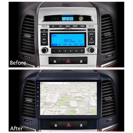 Navigatie NAVI-IT, 2GB RAM 32GB ROM, Android 9.1, Wi-Fi,Bluetooth, Waze, Hyundai Santa Fe, 2005-2012 , 9 Inch - Copie1