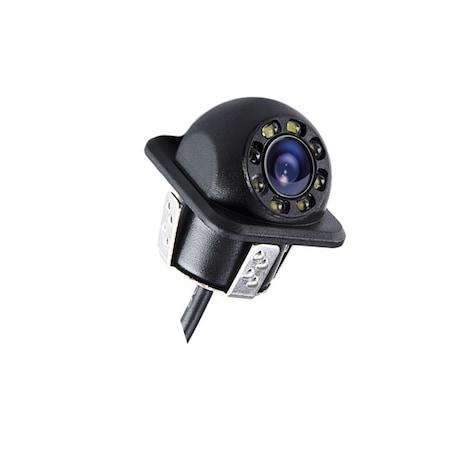 Camera marsarier NAVI-IT premium 8 leduri rotunda, cablu total de 6 metri, night-vision ,burghiu pentru instalare1
