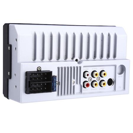 Mp3, Mp5 player auto 7010b 2 DIn, ecran 7 inch touchscreen mirrorlink cu camera marsarier si rama + Telecomanda NAVI-IT pentru comenzi volan mp5 player 7010B, 7012b, 7018b infrarosu [1]