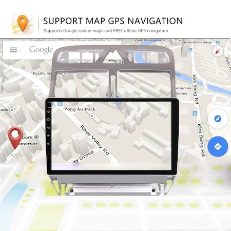 "Navigatie NAVI-IT Gps Peugeot 307 ( 2002 - 2013 ) , Android , 1 GB RAM + 16 GB ROM , Display 9 "" , Internet , Aplicatii , Waze , Wi Fi , Usb , Bluetooth , Mirrorlink3"