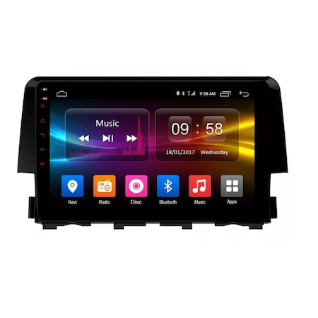 Navigatie NAVI-IT 2GB RAM + 32GB ROM  Android Honda Civic ( 2016 - 2020 ) , Display 9 inch, Internet, Aplicatii , Waze , Wi Fi , Usb , Bluetooth , Mirrorlink - Copie0