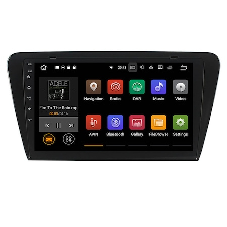 Navigatie NAVI-IT 4GB RAM 64GB ROM, 4G, IPS, DSP, Skoda Octavia 3, Android 9.1, WiFi, Bluetooth, Conexiune Internet prin Hotspot - Copie - Copie0
