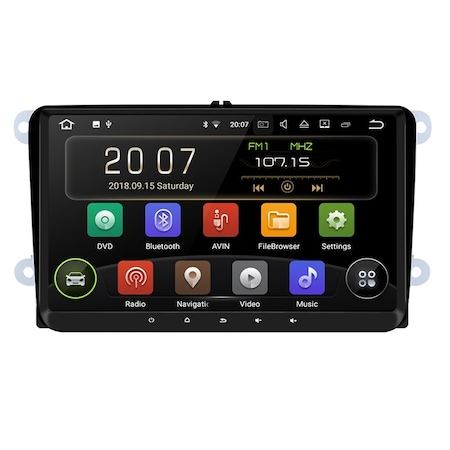 "Navigatie NAVI-IT Gps Android de 9 "" VW Golf 5 6 Passat B6 B7 CC EOS Tiguan Polo Touran Caddy Amarok , Skoda Octavia Fabia Seat Leon , Waze Youtube Internet Wi Fi Usb , Android 9.1, 1GB RAM + 16GB ROM0"