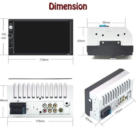 Navigatie MirrorLink mp5 player auto 7010B, Rama 2Din, Suporti prindere,camera marsarier 8 led night-vision, adaptor comenzi volan, Bluetooth, Divix , AVI , USB , SD Card , AUX4