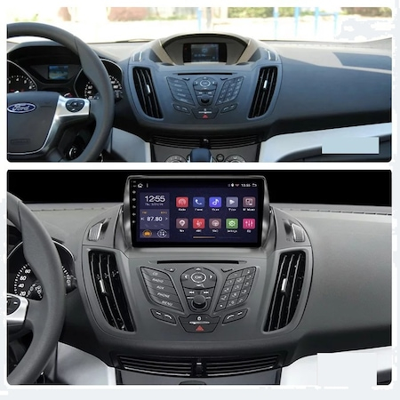 Navigatie NAVI-IT 1 GB RAM + 16 GB ROM ,  Android Ford Kuga ( 2013 - 2017 ) , Display 9 inch ,Internet ,Aplicatii , Waze , Wi Fi , Usb , Bluetooth , Mirrorlink3