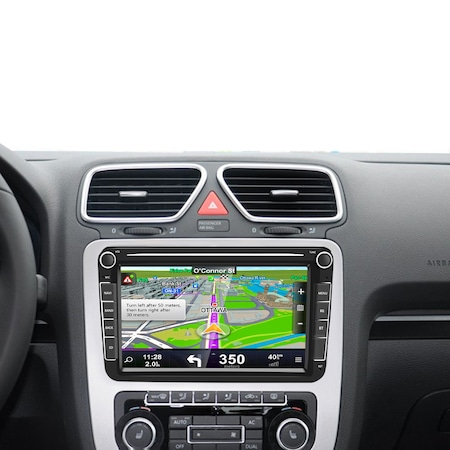 Navigatie Volkswagen Display 8 Inch, Android 9, 1GB Ram, WiFi, Bluetooth, Waze, microfon extern, canbuns + camera marsarier3