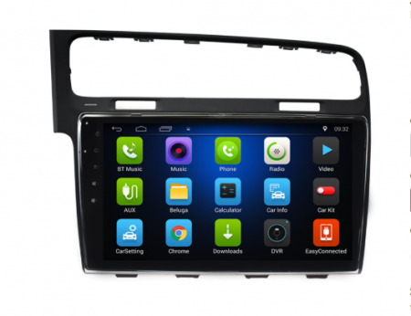 Navigatie Vw Golf 7 Android 9 Ecran 10 Inch, WiFi, Bluetooth, GPS2
