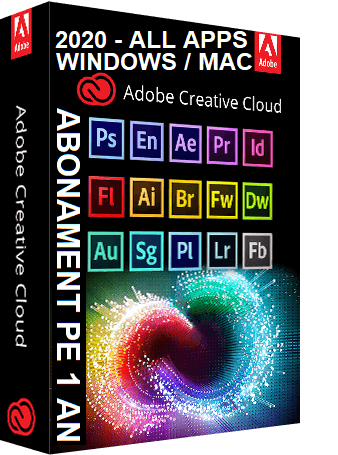 Adobe Creative Cloud (CC) 2020, All Apps, pentru Windows sau Mac, abonament 1 an, licenta electronica 0