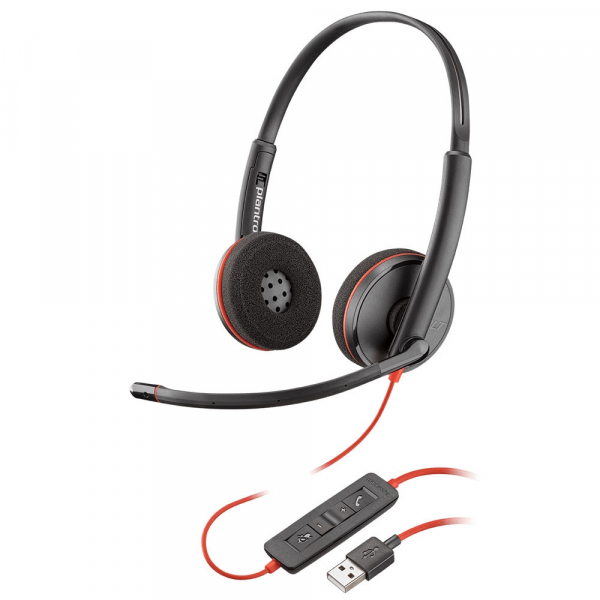 Casca Call Center Plantronics BLACKWIRE 3220, USB-A, Stereo (209745-101) 1