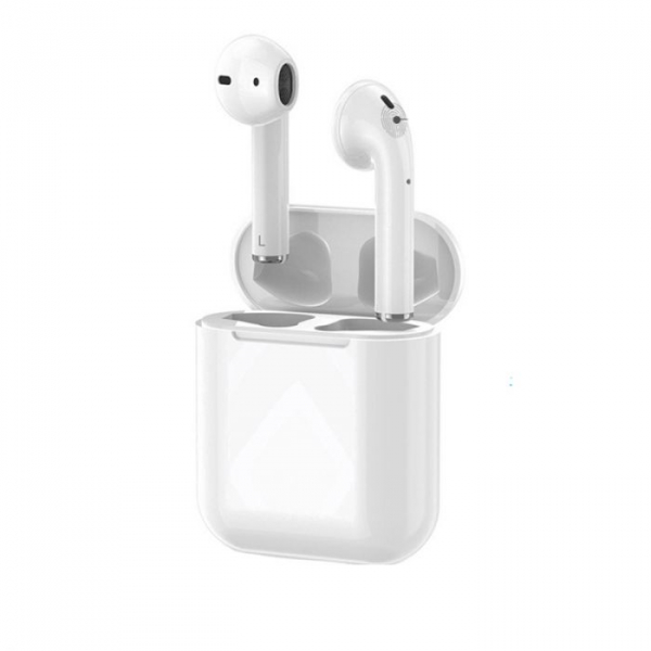 Casti Airpods i18 Upgrade v2, Wireless, Technomen, Bluetooth 5.0, Touch control magnetic charge 0