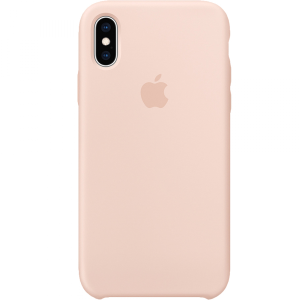 Husa Capac Spate Silicon Sand Roz APPLE iPhone X 0