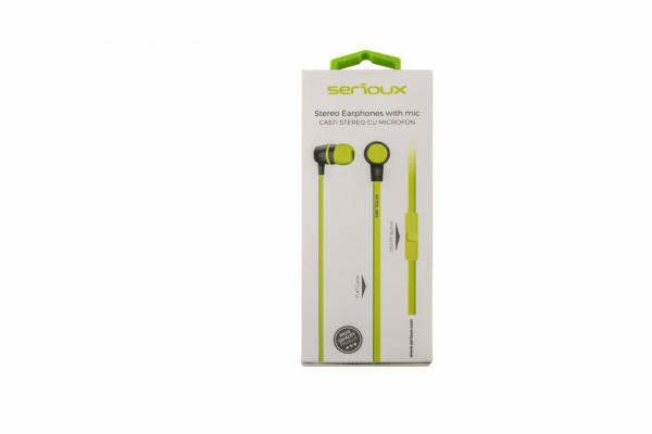 IN-EAR HEADPHONES WITH MIC SERIOUX LIME 1