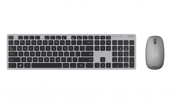 Kit Tastatura + Mouse Asus W5000, Wireless (10m) 2.4GHz ,800/1200/1600dpi, tastatura chiclet, 13 dedicated Windows 10 hotkeys,ultra-thin 11mm profile, high-quality rubber dome switches for silent,resp 1