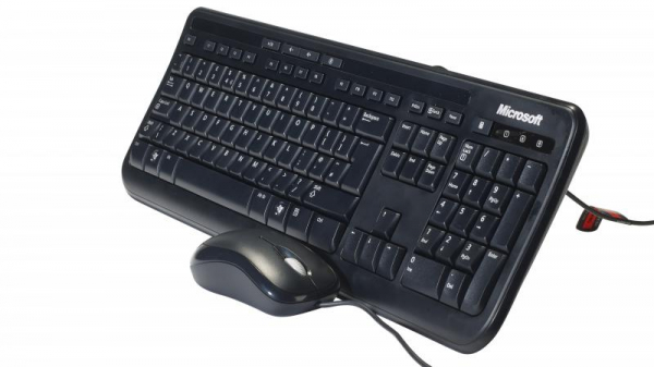 Kit tastatura + mouse Microsoft 600 Wired Desktop Negru 0