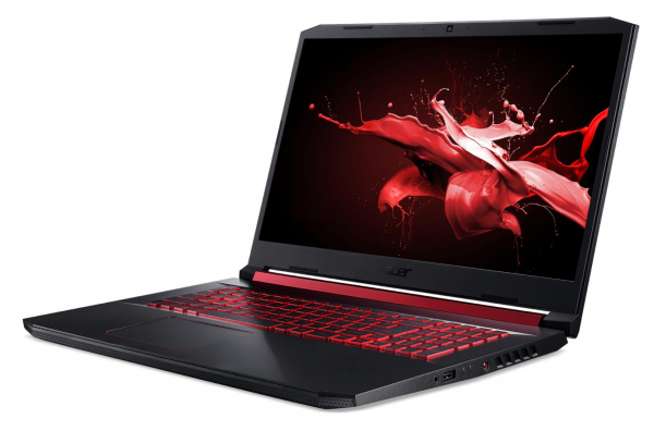 "Laptop Acer Nitro 5 AN517-51, 17.3"" display with IPS (In-Plane Switching) technology, Full HD 1920 x1080, high-brightness (300 nits) Acer ComfyViewTM LED-backlit TFT LCD, supporting 144 Hz, 3 ms Overd 6"