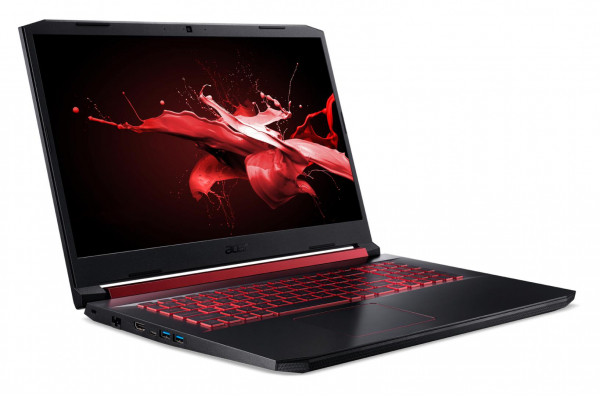 "Laptop Acer Nitro 5 AN517-51, 17.3"" display with IPS (In-Plane Switching) technology, Full HD 1920 x1080, high-brightness (300 nits) Acer ComfyViewTM LED-backlit TFT LCD, supporting 144 Hz, 3 ms Overd 4"