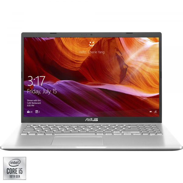 "Laptop ASUS X509JA cu procesor Intel® Core™ i5-1035G1 pana la 3.60 GHz, 15.6"", Full HD, 8GB, 512GB SSD, Intel® UHD Graphics, Free DOS, Transparent Silver 9"