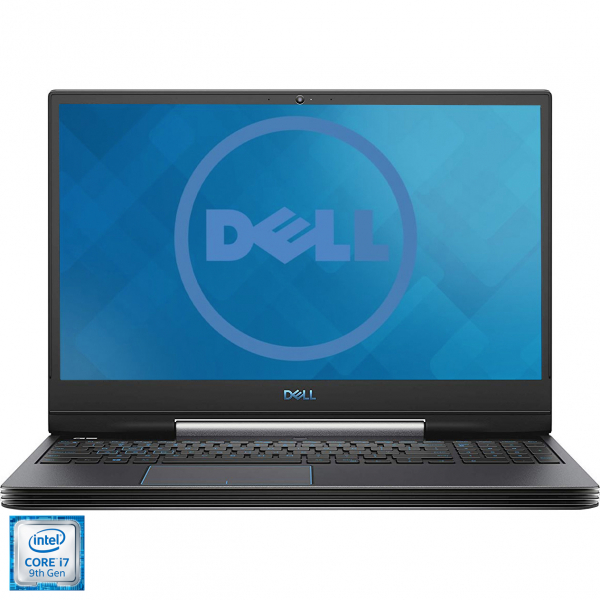 "Laptop Gaming Dell Inspiron G5 5590 cu procesor Intel® Core® i7-9750H pana la 4.50 GHz Coffee Lake, 15.6"", Full HD, 144Hz, 16GB, 1TB HDD + 256GB SSD, NVIDIA GeForce RTX 2060 6GB, Ubuntu, Black 0"