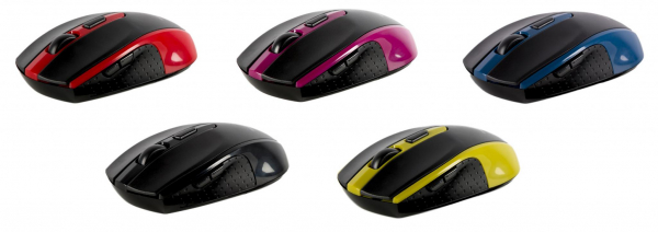 Mouse Wireless Serioux Pastel 600, USB, Violet 1