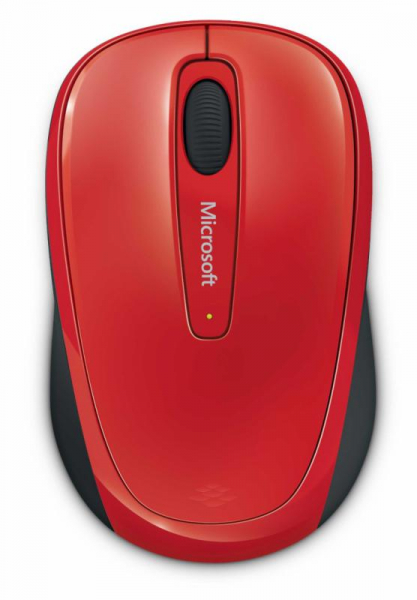Mouse Microsoft Mobile 3500, Wireless, Rosu Glossy 1