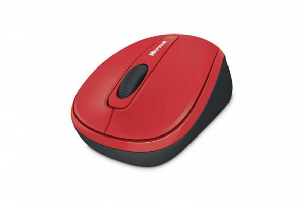 Mouse Microsoft Mobile 3500, Wireless, Rosu Glossy 0