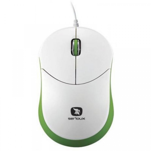 Mouse Serioux Rainbow 680, USB, Verde 0