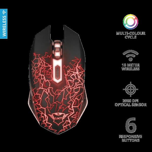 Trust GXT 107 Izza Wireless Gaming Mouse 6