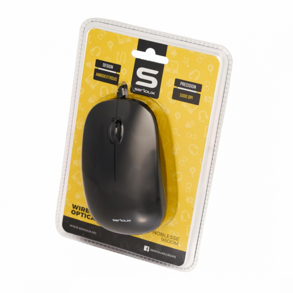 MOUSE SERIOUX WIRED 9800MBK 1