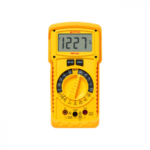 Multimetru BEHA-AMPORE Handheld Digital Multimeter, AC/DC Current, AC/DC Voltage, Continuity, Resistance, 3.5, True RMS 0