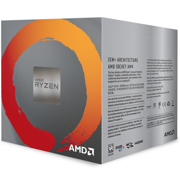 AMD CPU RYZEN 5 3400G YD3400C5FHBOX 0
