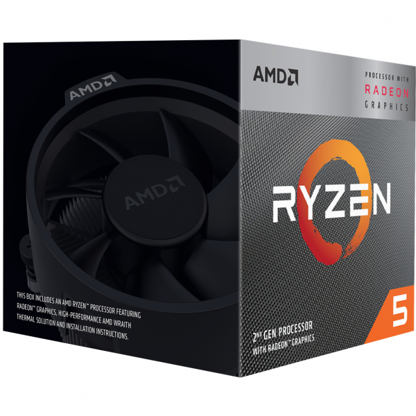 AMD CPU RYZEN 5 3400G YD3400C5FHBOX 1