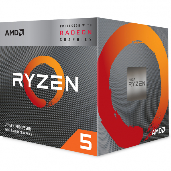 AMD CPU RYZEN 5 3400G YD3400C5FHBOX 2