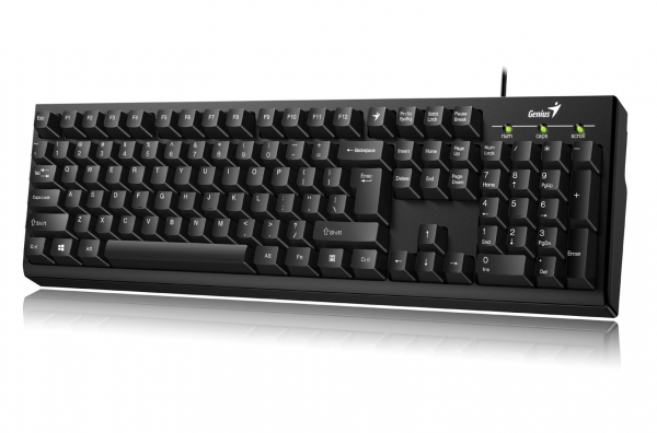 KB Genius KB-100 Black USB 4