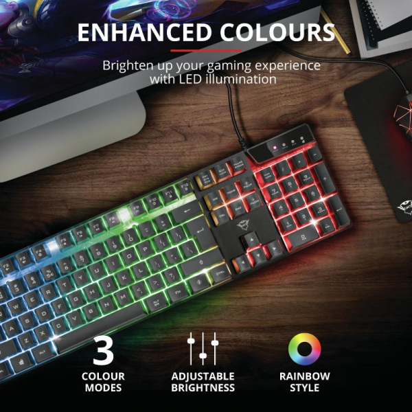 Trust GXT 835 Azor Illuminated Keyboard 5