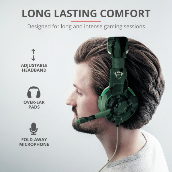 Trust GXT 310C Radius Headset - Jungle 0